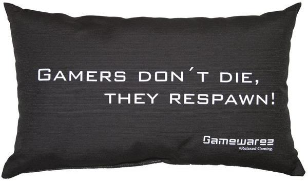 GAMEWAREZ Gamers don't die,they respawn! schwarz 30 x 50 cm