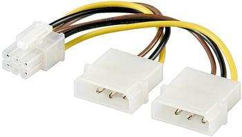 Goobay PCIe 6pin Stromadapter 0,15m (51360)