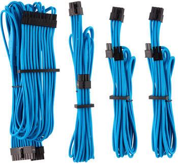 Corsair Premium PSU Cables Starter-Kit Typ 4 Gen 4 mit Einzelummantelung - blau