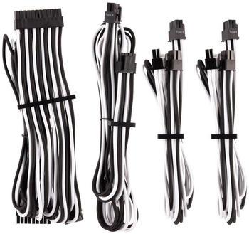 Corsair Premium PSU Cables Starter-Kit Typ 4 Gen 4 mit Einzelummantelung - weiss/schwarz