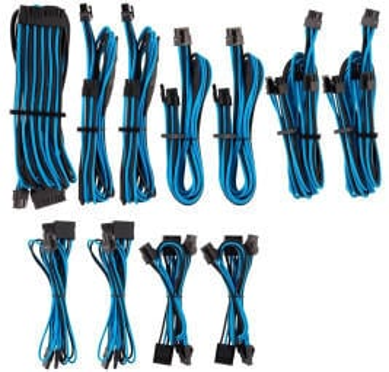 Corsair Premium PSU Cables Pro-Kit Typ 4 Gen 4 mit Einzelummantelung - blau/schwarz