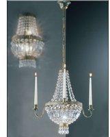 koegl-candela-krone-3-flg-antik-mit-mit-glasbehang-und-3-spitzkerzen