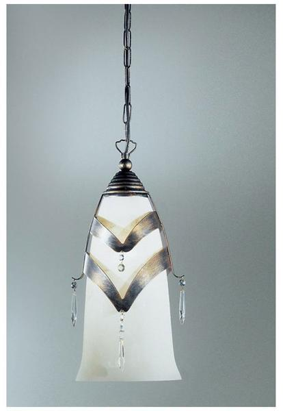 Kögl Prisma Pendel Schwarz-Gold-Silber mit Glasbehang 43cm