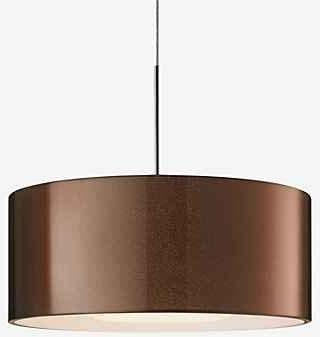 BRUCK Modische LED Pendelleuchte Cantara in chrom, außen bronze, innen weiß, Ø300 mm