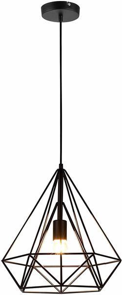 [lux pro] [lux.pro] LED Hängeleuchte Industria SchwarzDeckenleuchte (1 x E27 Sockel)(37cm x Ø 40cm) HängeleuchteVintageRetro DesignIndustrial Design (Schwarz)