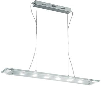 Ideal Lux LED-Pendelleuchte mit rechteckiger Glasplatte, chrom LED