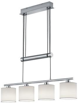 Trio Garda Pendel E14 4-flammig weiß Nickel matt (305400401)
