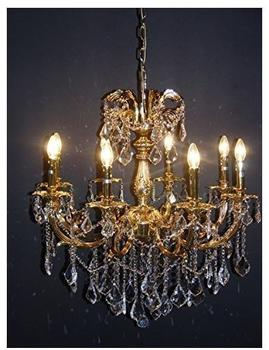 casa-padrino-barock-kristall-kronleuchter-8-flammig-gold-modk6-haengeleuchte-luester-haengelampe-deck