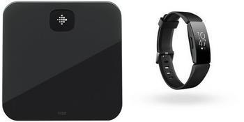 Fitbit Aria Air Personenwaage + Inspire HR schwarz