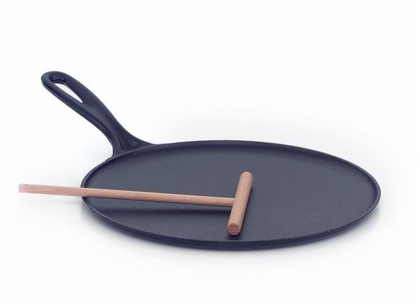 Le Creuset Crepes-Pfanne Gusseisen 27 cm schwarz