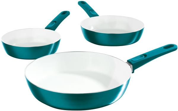 TV Das Original Bratmaxx Keramik-Hochrandpfannen 3tlg. smaragdgrün