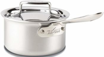 All-Clad BD55201.5 D5 Brushed Stainless Steel 5-Ply Bonded Dishwasher Safe Sauce PanCookware, 1.5-Quart, Silver
