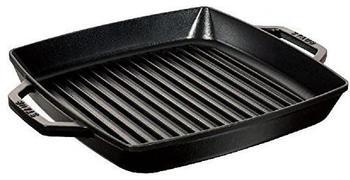 Staub Grillpfanne mit 2 Griffen 23 x 23 cm schwarz