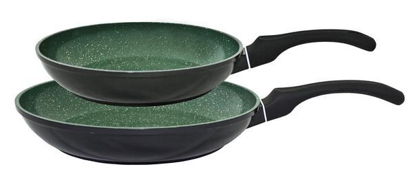 Kopf Bratpfannen-Set 2-tlg. schwarz/grün