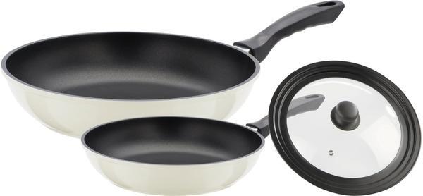 GSW Gourmet Color Pfannen-Set 3 tlg. schwarz creme