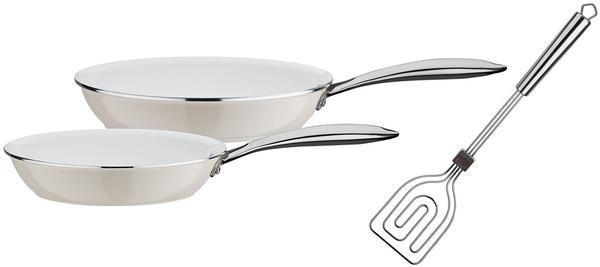 GSW Ceramica Pfannenset 3-teilig weiß creme