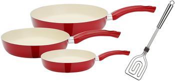 GSW Ceramica Pfannenset 4-teilig Rot creme