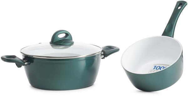 Genius Cerafit Fusion Topf-Set 3tlg smaragdgrün