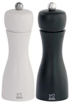 Peugeot Tahiti Salz- und Pfeffermühle Set schwarz / weiß 15 cm