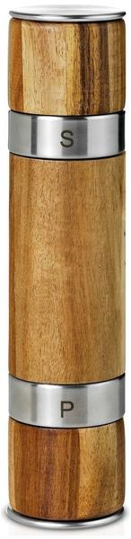 AdHoc Duomill Doppelmühle 21 cm Akazienholz