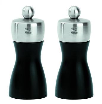 Peugeot Fidji Salz- und Pfeffermühle Set schwarz 12 cm