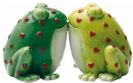 Salz und Pfefferstreuer Horny Toads Froschkönig Frosch Figur