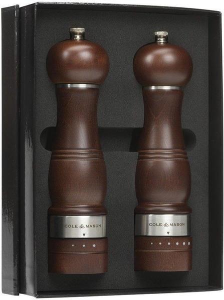 Cole & Mason Foerst Ardingly Salz und Pfeffermühle 22 cm gebeitzte Buche