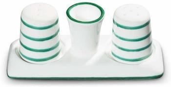 Gmundner Keramik Manufaktur 0100SGGL05 GrüngeflammtPfeffer und Salz