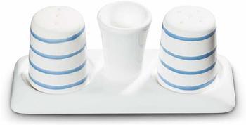 Gmundner Keramik Blaugeflammt Salz Pfeffer Garnitur
