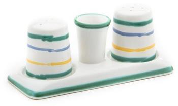 Gmundner Keramik Buntgeflammt Salz-/Pfefferstreuer 2-er Set
