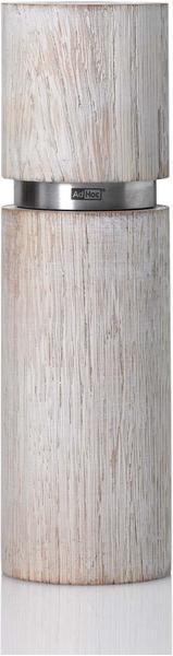 AdHoc Textura Antique Grande Pfeffer oder Salzmühle 20 cm weiß