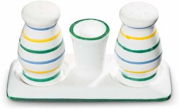 Gmundner Keramik Buntgeflammt Salz Pfeffer Garnitur bauchig
