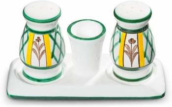 Gmundner Keramik Jagd Salz Pfeffer Garnitur bauchig