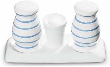 Gmundner Keramik Blaugeflammt Salz Pfeffer Garnitur bauchig