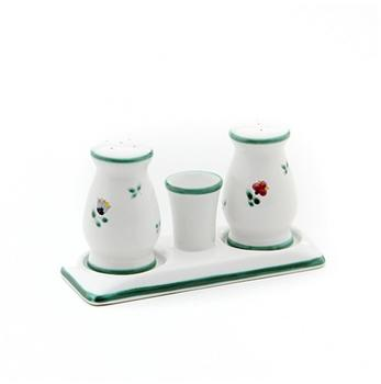 Gmundner Keramik Streublumen Salz Pfeffer Garnitur bauchig