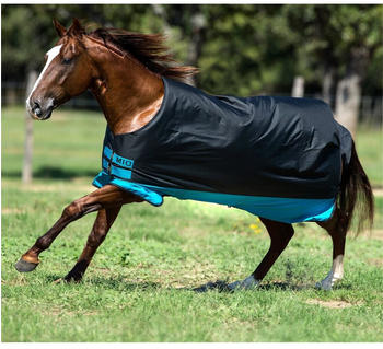 Horseware Mio Turnout 0g 160cm Black with Turquoise & Black