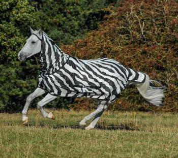 Bucas Buzz Off Zebra Full Neck 115cm schwarz/weiß