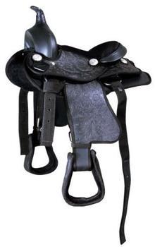 Pfiff Kunststoff-Westernsattel schwarz