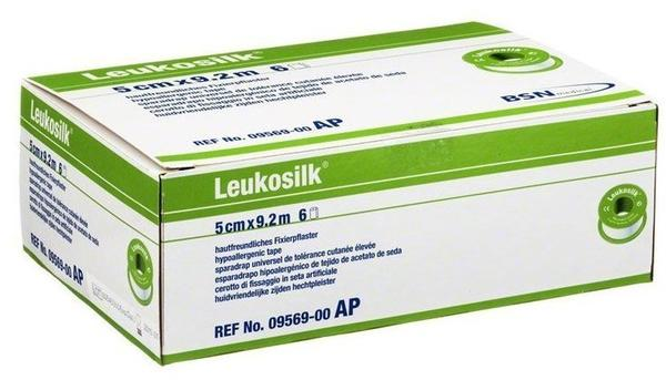 BSN Medical Leukosilk 9,2 m x 5 cm ohne Schutzring