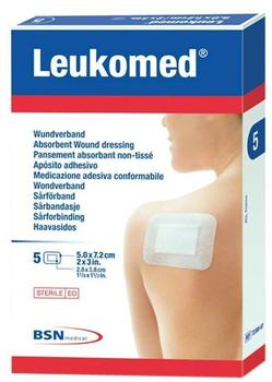 BSN Medical Leukomed Sterile Pflaster 7,2 x 5 cm (5 Stk.)