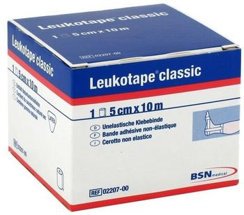 BSN Medical Leukotape Classic Einzelrolle in Faltschachtel 5 cm x 10 m weiß