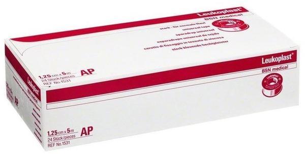 BSN Medical Leukoplast Anstaltspackungen ohne Schutzring 5 m x 1,25 cm (24 Stk.)