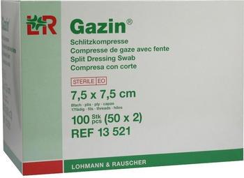Lohmann & Rauscher Gazin Schlitzkompressen 7,5 x 7,5 cm 8-fach Steril (50 x 2 Stk.)