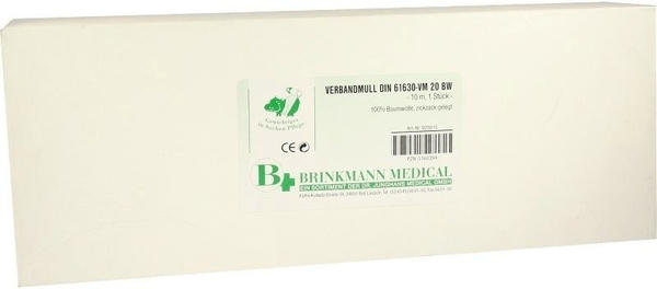 Dr. Junghans Medical Brinkmann Verbandmull 10 cm x 10 m Zickzack