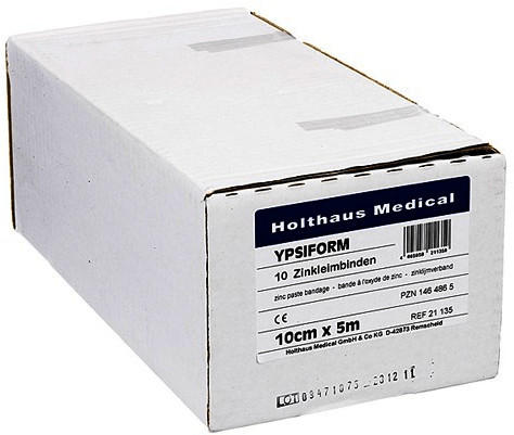 Holthaus Ypsiform 10 cm x 5 m Zinkleimbinde (10 Stk.)