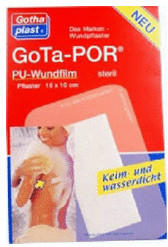 Gothaplast Gota-Por PU Wundfilm 15 x 10 cm Steril Verband (50 Stk.)