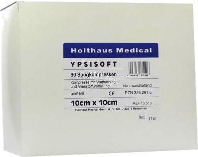 Holthaus Saugkompressen Ypsisoft unsteril 10 x 10 cm (30 Stk.)