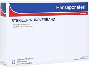 Beiersdorf Hansapor steril Wundverband 10 x 15 cm (25 Stk.)