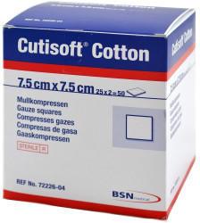 BSN Medical Cutisoft Cotton Kompressen Steril 8-fach, 17-fädig 7,5 x 7,5 cm (25 x 2 Stk.)