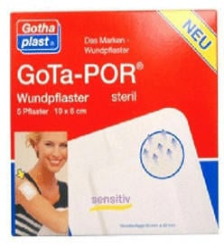 Gothaplast Gota-Por Wundpflaster 100 x 80 mm Steril (5 Stk.)